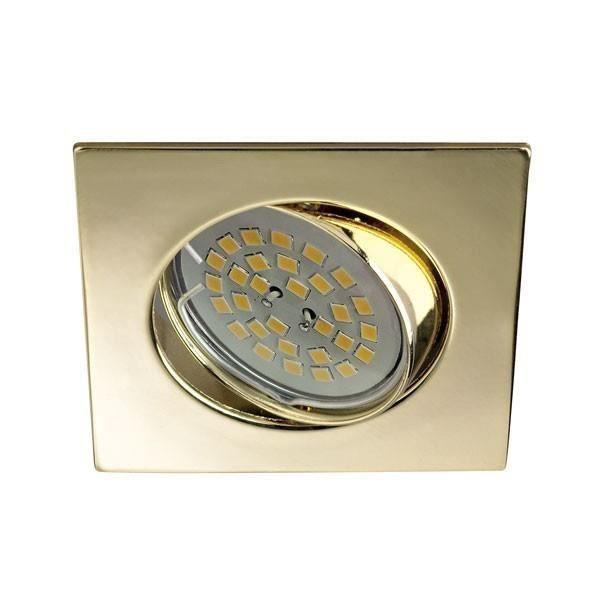 Spot encastrable BASIC carré or. Wonderlamp
