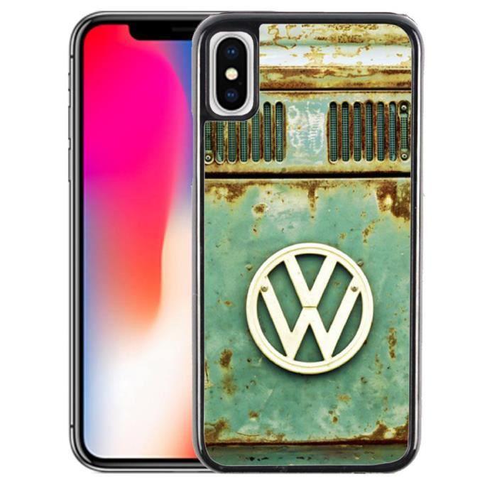 Coque iPhone X Combi Van Volkswagen Logo