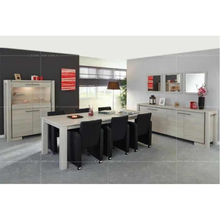 Emma pin blanc gris ensemble salle a manger achat for Salle a manger ceruse gris