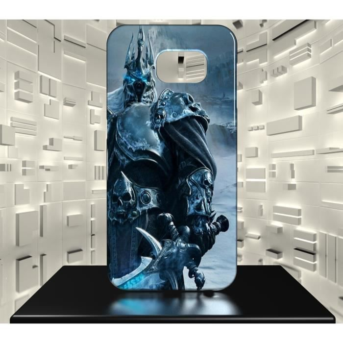 Coque Samsung Galaxy S7 JVF World of Warcraft WOW 14 Le Roi Liche