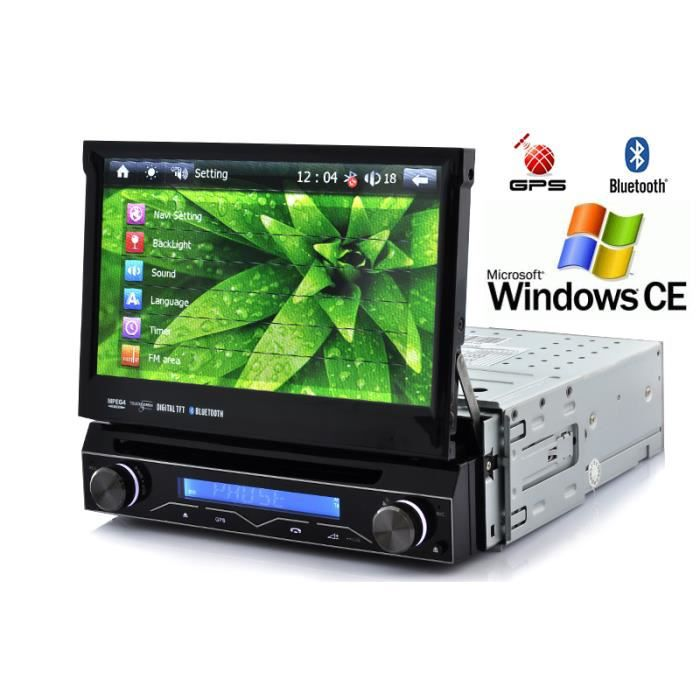 autoradio lecteur dvd 7 pouces bluetooth gps achat. Black Bedroom Furniture Sets. Home Design Ideas