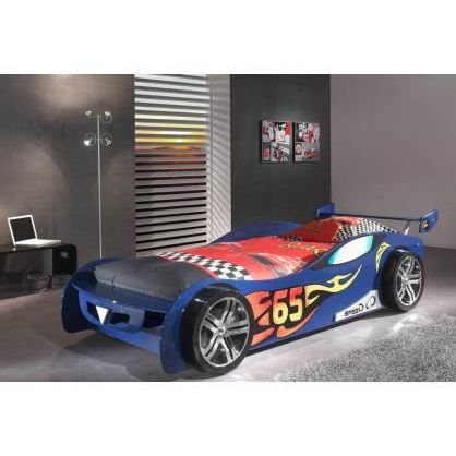 lit voiture enfant speedy bleu achat vente lit complet. Black Bedroom Furniture Sets. Home Design Ideas