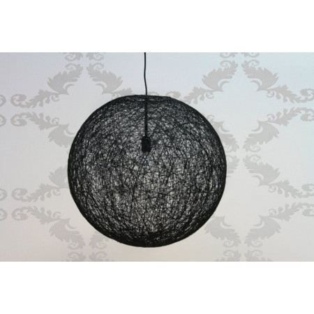 Pin suspension luminaire lampe de chevet on pinterest for Suspension rotin noir