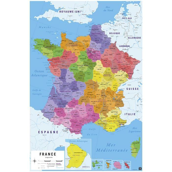 carte france 2017