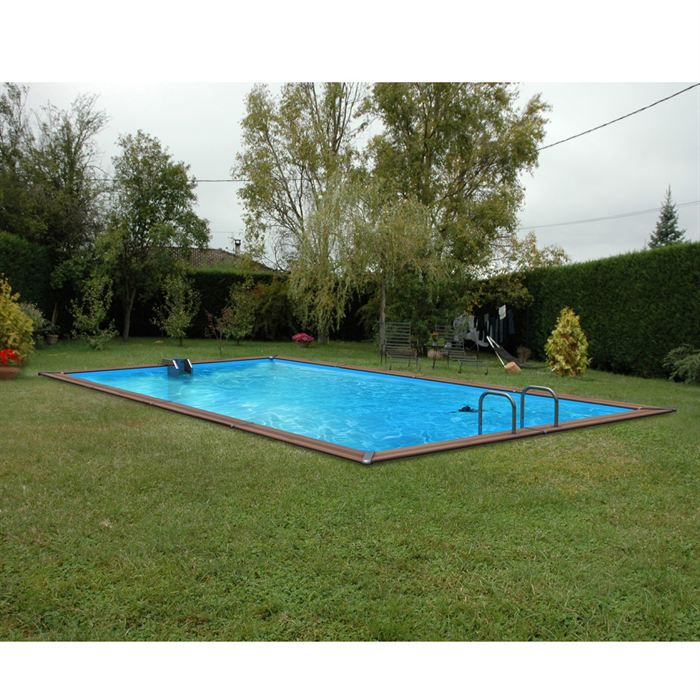 Piscine bois alu waterclip 620x310x147 optimum achat for Piscine non enterree