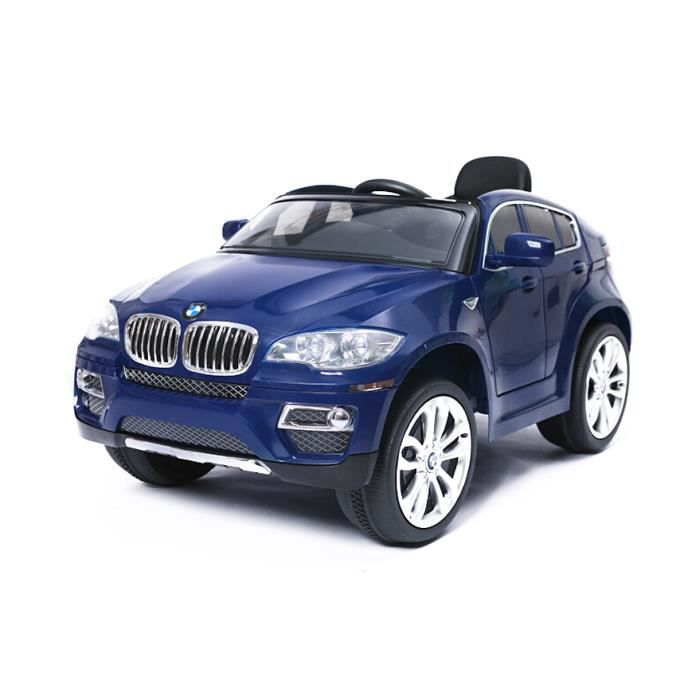 voiture lectrique pour enfant 4x4 bmw x6 bleu achat. Black Bedroom Furniture Sets. Home Design Ideas