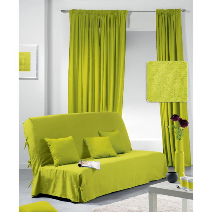 housse clic clac unity 2 coussins vert achat vente. Black Bedroom Furniture Sets. Home Design Ideas