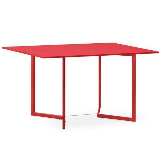 Table pliante en bois silly rouge achat vente console extensible table pliante en bois silly - Table en bois pliante ...