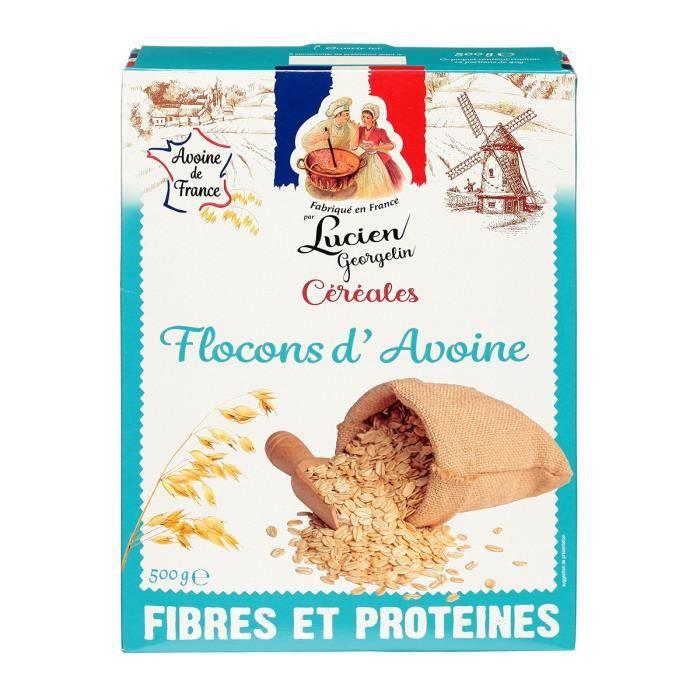 CÉRÉALES - MÉLANGES LUCIEN GEORGELIN Céréales Flocons d'Avoine - 500 g