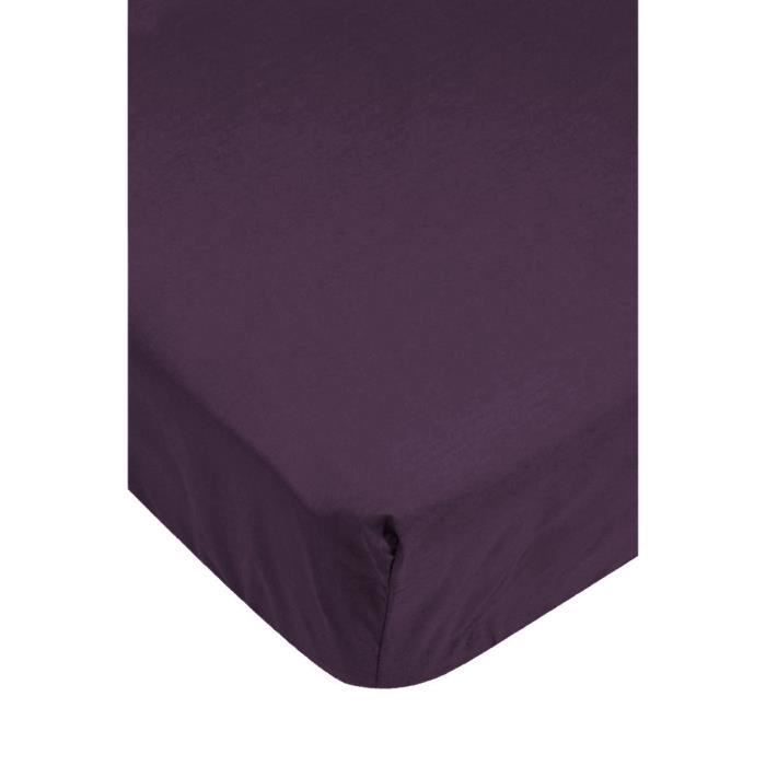 drap housse jersey violet achat vente drap housse cdiscount. Black Bedroom Furniture Sets. Home Design Ideas