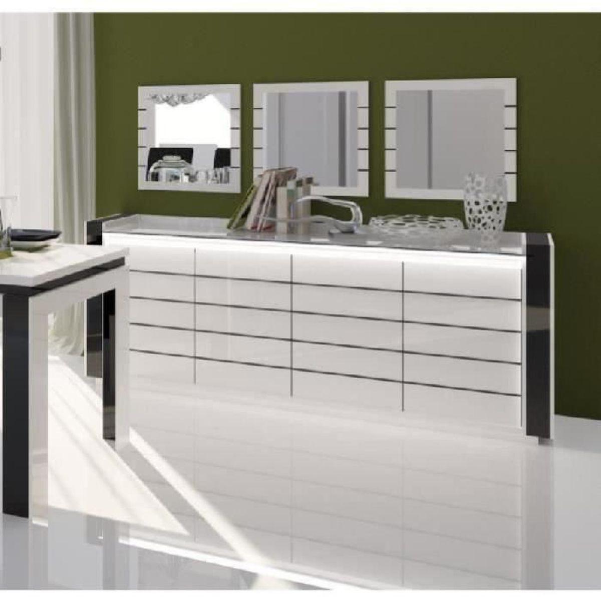 Miroir Salle De Sejour price factory - buffet, bahut, enfilade lina avec led + 3 x