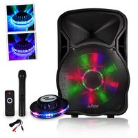 PACK SONO Enceinte SONO DJ Batterie PARTYLIGHT12-LED 700W 12