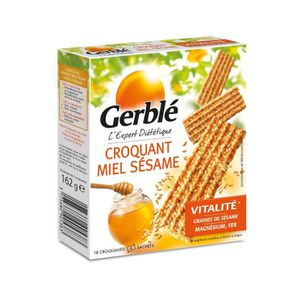 BARRE DE CEREALE GERBLE Barre croquante au miel et au sésame - 162