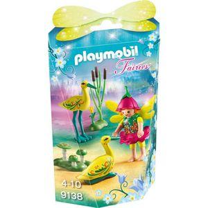 FIGURINE - PERSONNAGE PLAYMOBIL 9138 - Fairies - Fée avec Cigognes