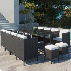 Ensemble table et chaise de jardin Daytona 12 : salon de jardin encastrable 12 places