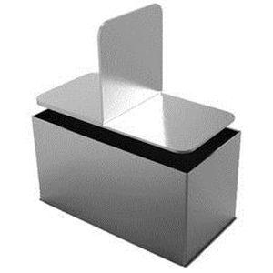 EMPORTE-PIÈCE  4 cadres rectangle et poussoir 7.5 x 3 cm