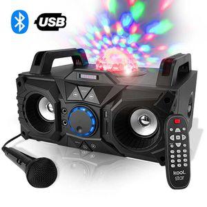 ENCEINTE ET RETOUR Enceinte karaoke 200W - USB-SD-BLUETOOTH - LEDs Ma