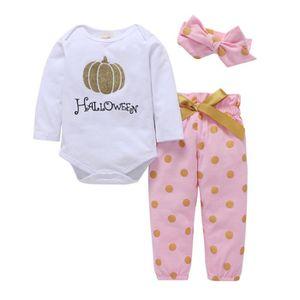 Ensemble de vêtements Ensemble de vêtements bébé filles lettre tops citr