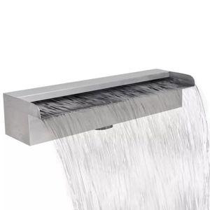 CASCADE - FONTAINE  Lame d'eau rectangulaire pour piscine en acier ino