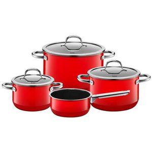 POÊLE - SAUTEUSE Silit Pot-Set 4 pièces. Red Passion 2109297383