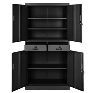 armoire de bureau achat vente armoire de bureau pas cher cdiscount. Black Bedroom Furniture Sets. Home Design Ideas