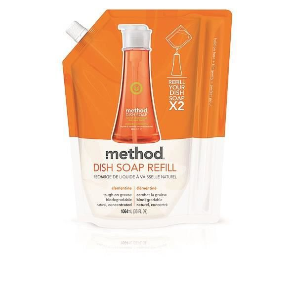 LIQUIDE VAISSELLE METHOD Recharge liquide vaisselle - Parfum clément