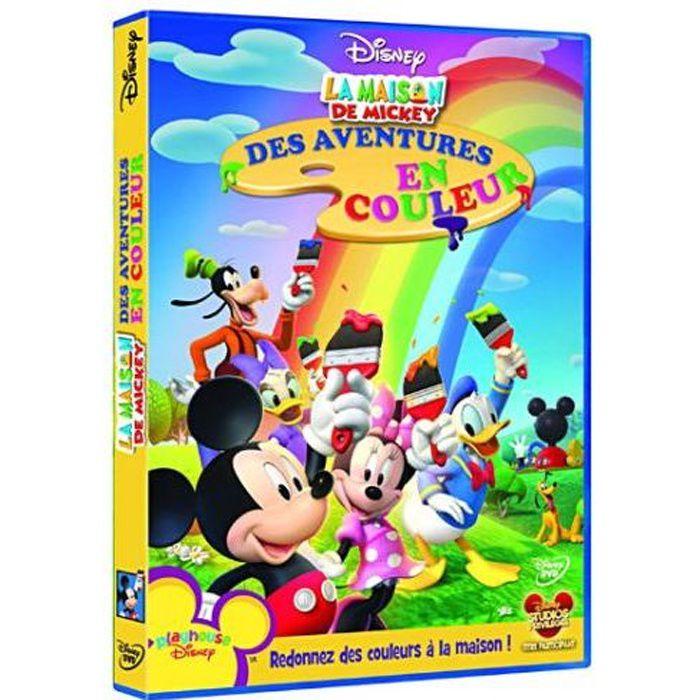 Dvd La Maison De Mickey Des Aventures En Couleur En Dvd Dessin