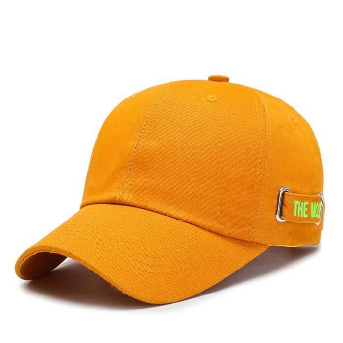 Casquette De Baseball Tout-Match A La Mode Orange