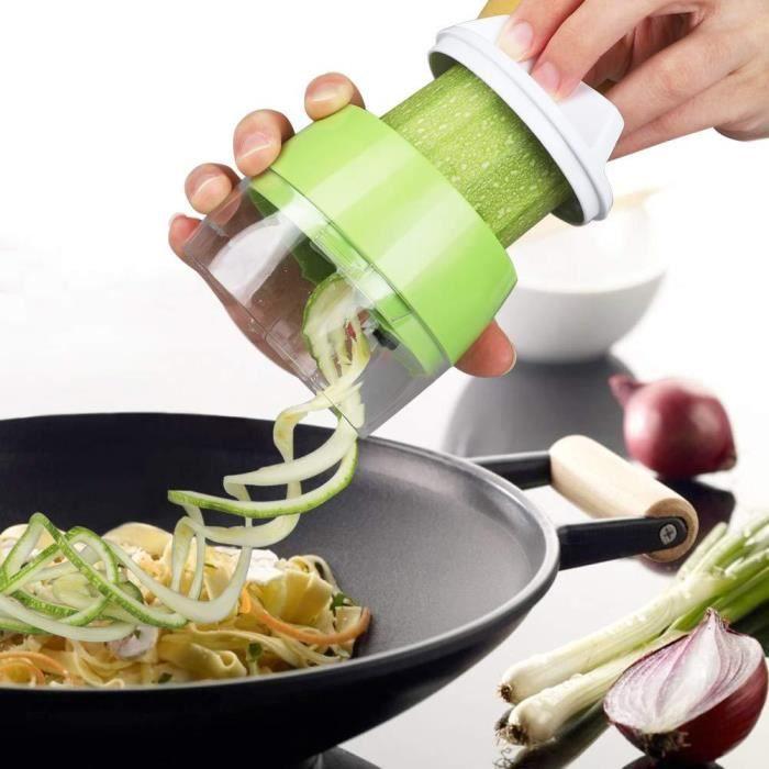 Légumes Coupe-Spirale, Coupe-Spaghetti de courgettes, Coupe-Spirale Coupe-légumes à la Main Coupe-Spirale.