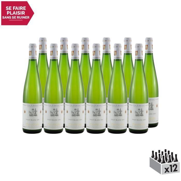 Alsace Pinot Blanc Blanc 2006 - Lot de 12x75cl - Domaine Kientzler - Vin AOC Blanc d' Alsace - Cépage Pinot Blanc
