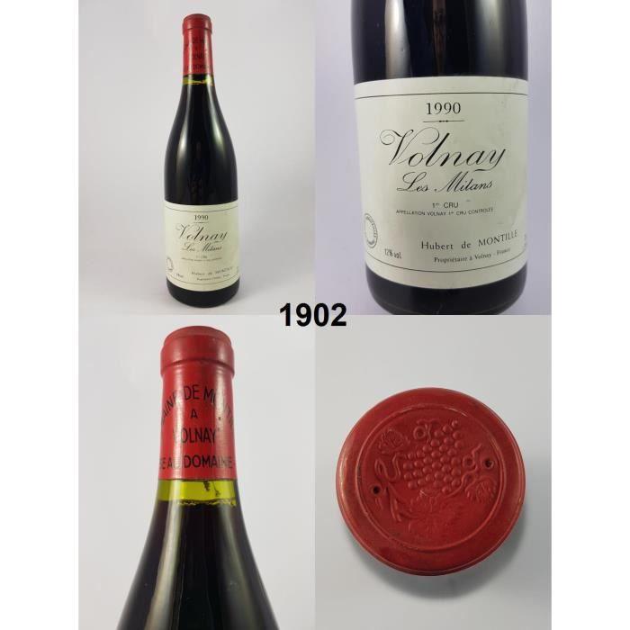 Volnay 1er cru - Les Mitans - Domaine de Montille 1990 - N° : 1902, Volnay, Rouge