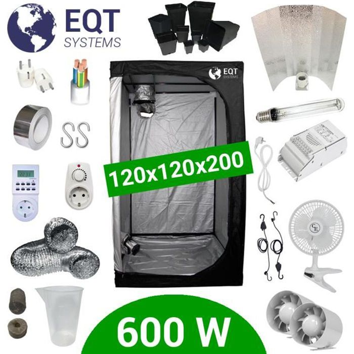 Pack Tente 600W 120x120 - ETI + Supacrop