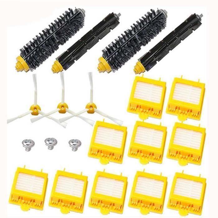 pour oeuf brosse latérale Hepa Kit de filtre pour iRobot Roomba série 700 770 780 790 FR45700