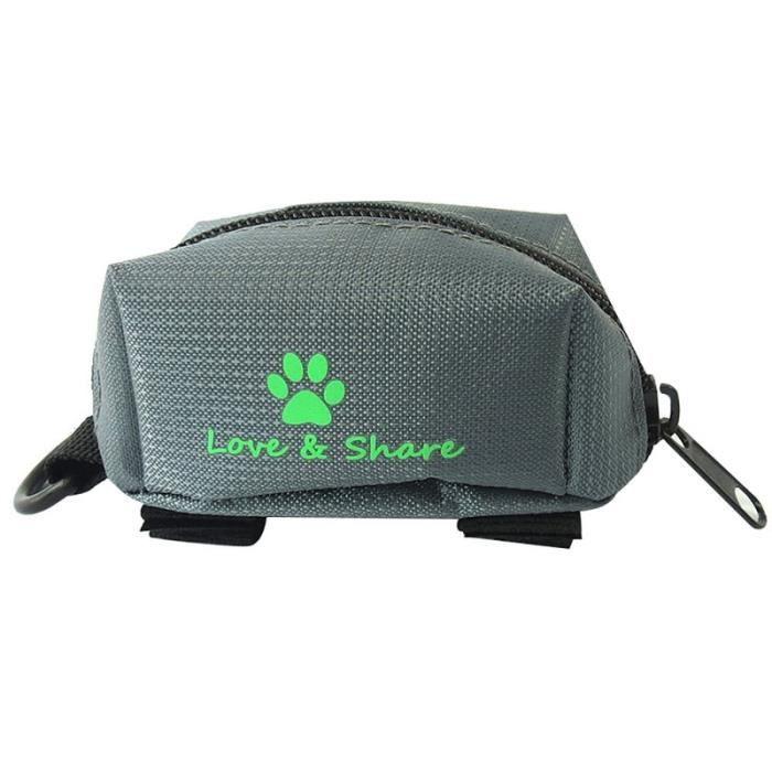 Sac de proprete excrements,1PC Pooper sac support Match à chien laisses chien déchets sac distributeur distributeur - Type grey