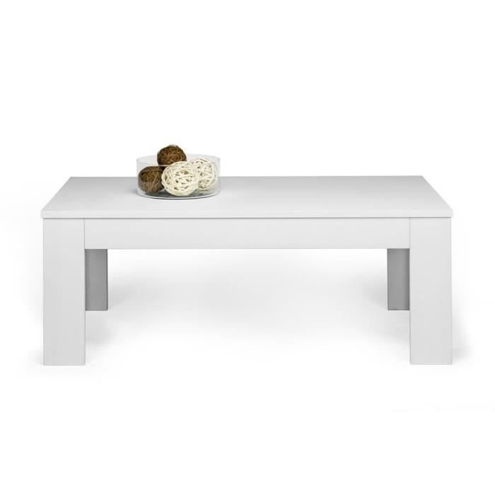 Mobili Fiver, Table basse, Easy, Frêne blanc, Mélaminé, Made in Italy