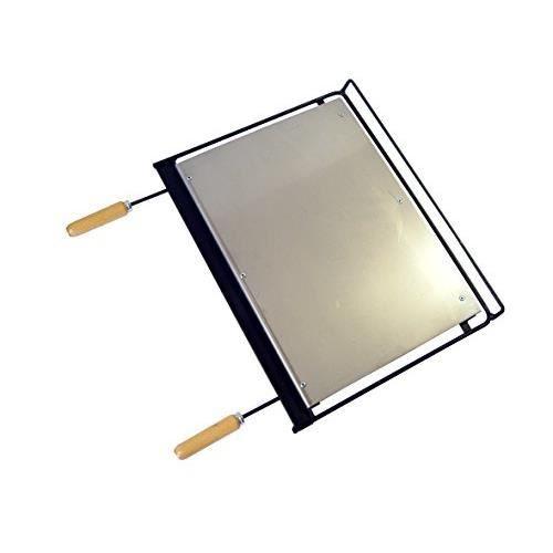 El Zorro Imex 71665 - Plancha en INOX pour Barbecue, 58 x 40 cm, Couleur Noir 71665