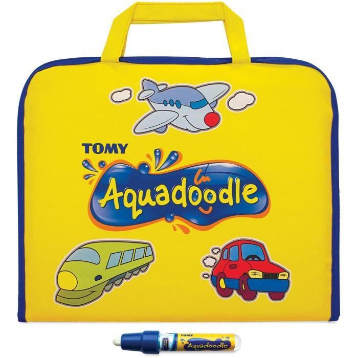 ARDOISE MAGIQUE TOMY - Valisette de Dessin Aquadoodle Jaune T72369, Malette Dessin à Eau Sans Taches, Dessin Enfant Forma87