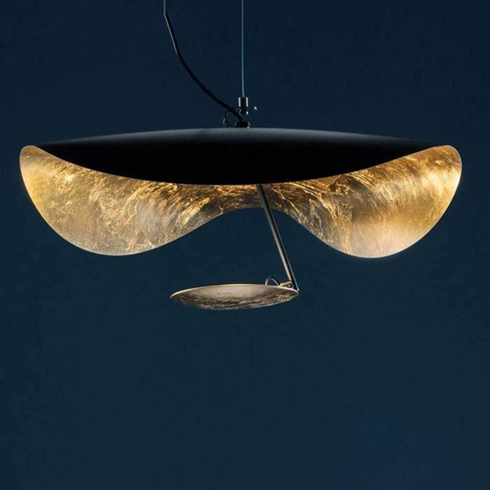 LUSTRE Suspension Luminaire Lumi&egraveres Lustre Salon LED Vertigo Lampe Suspendus Pendentif Chapeau Design Courbe Spirale Han224