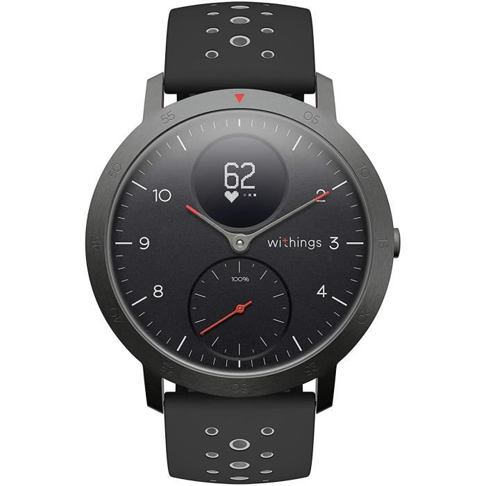 MONTRE CONNECTEE SPORT Withings Steel HR Sport - Montre Connect&eacutee Hybride Multisport, GPS Connect&eacute, Fr&eacutequen704