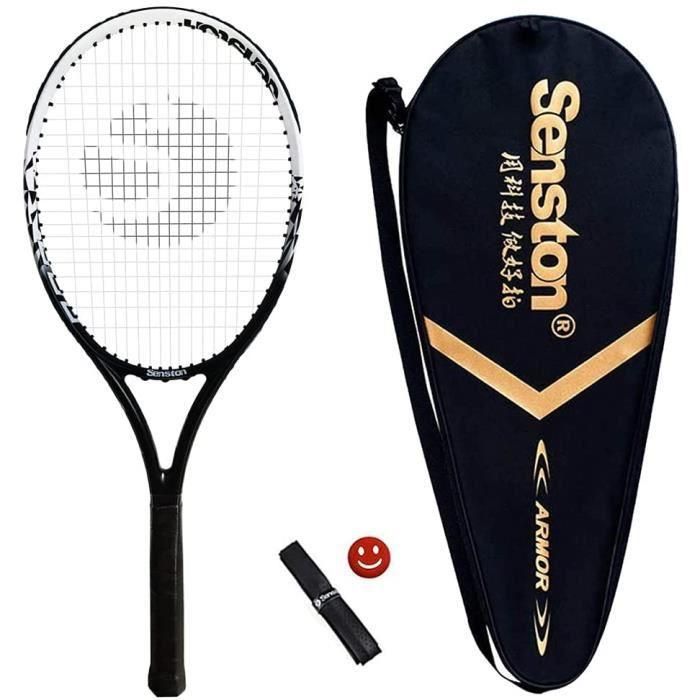 Raquette de Tennis 27'', Professionnelle en Carbone Complet Raquette de Tennis Adulte, y Compris Sac de Tennis et Surgrip et Amo,661