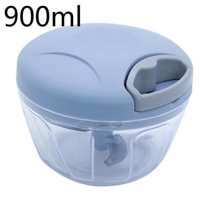 Hachoir manuel,Coupe légumes manuel petit pilé ail émincé poivre purée de poivre bébé complément alimentaire - Type 900ml Blue