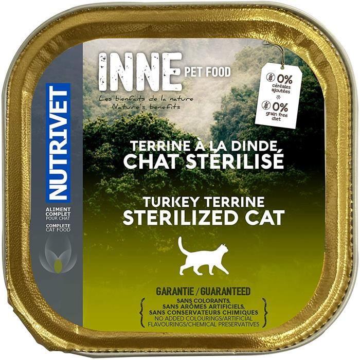 Nourriture pour chats Nutrivet Inne Terrine Stérilisé BQ pour Chat 150 g 39304