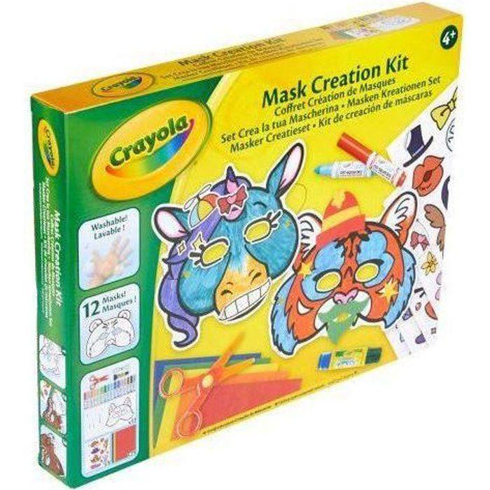 Crayola - Coffret Création de Masques - Activités pour les enfants - Kit Crayola