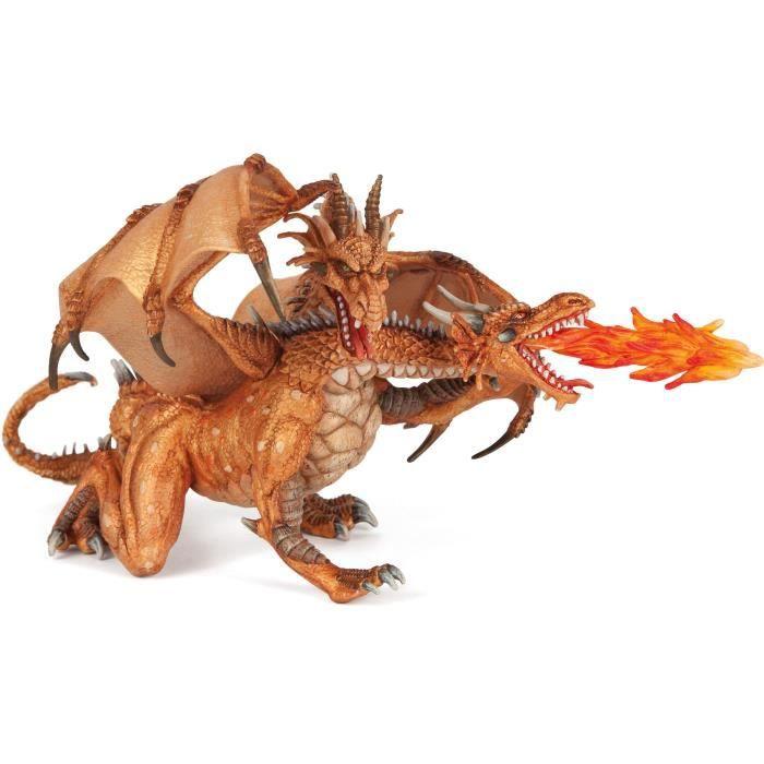 PAPO Figurine Dragon deux têtes Or Pour Enfant