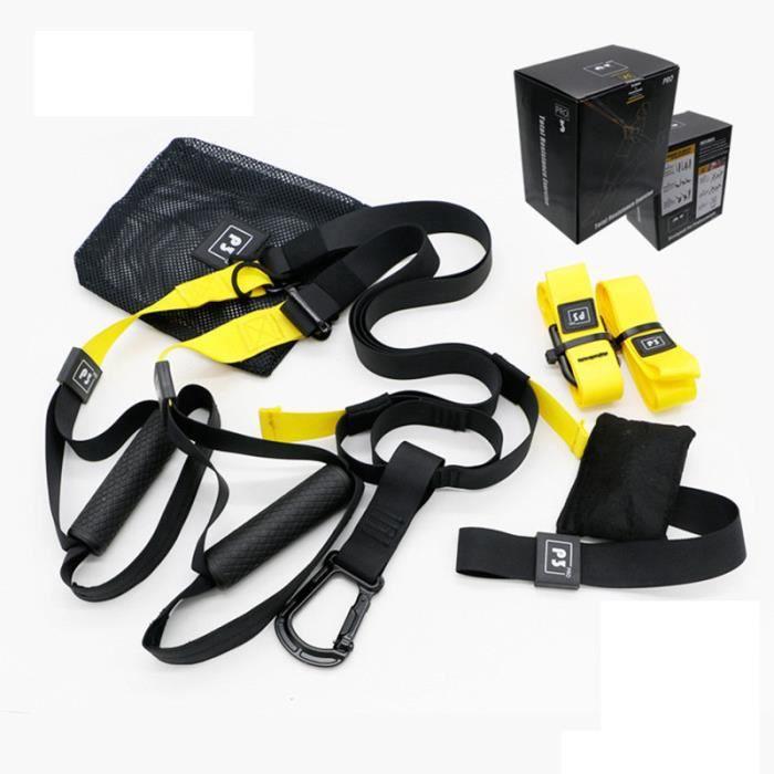 Elastique de Résistance Musculation Fitness Pro 3 Jaune