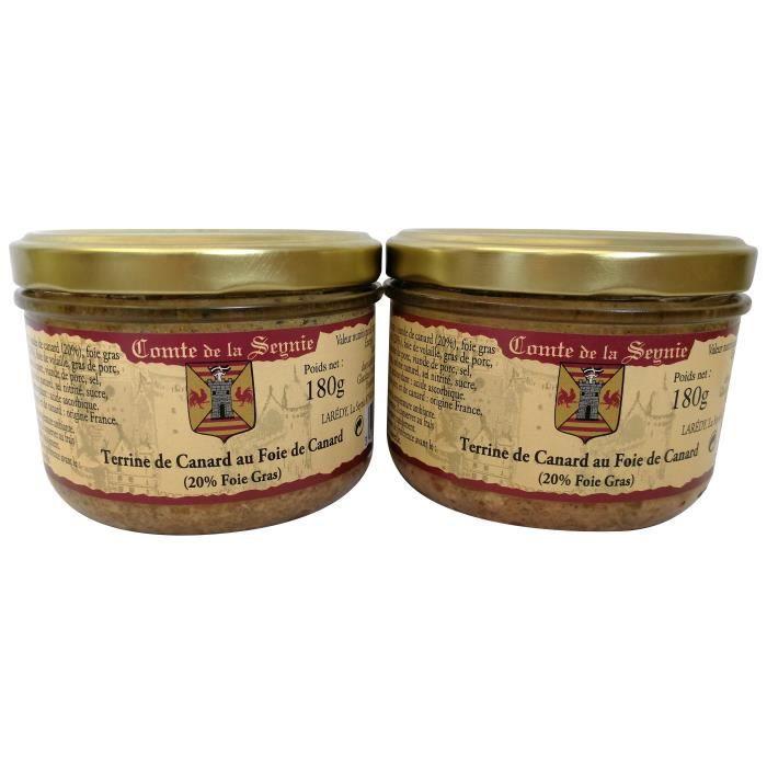 Terrine de Canard au Foie de Canard - 2 x 180 g