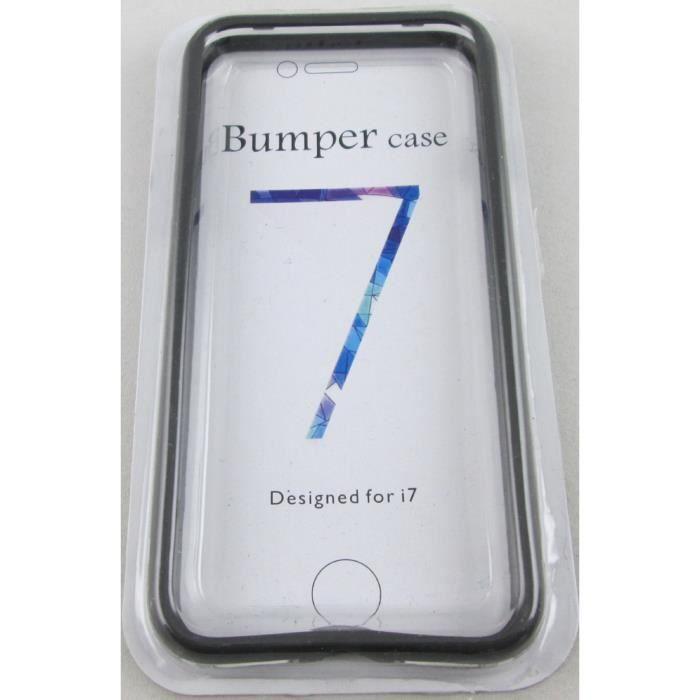 bumper iphone 7/ iphone 8 noir et transparent