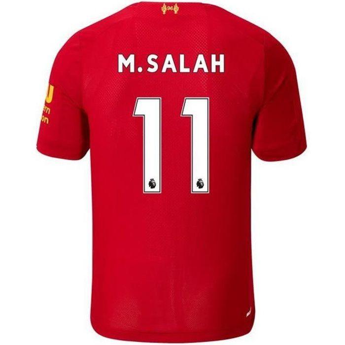 Nouveau Maillot Enfant New Balance FC Liverpool Domicile Saison 2019-2020 Numéro 11 M. SALAH