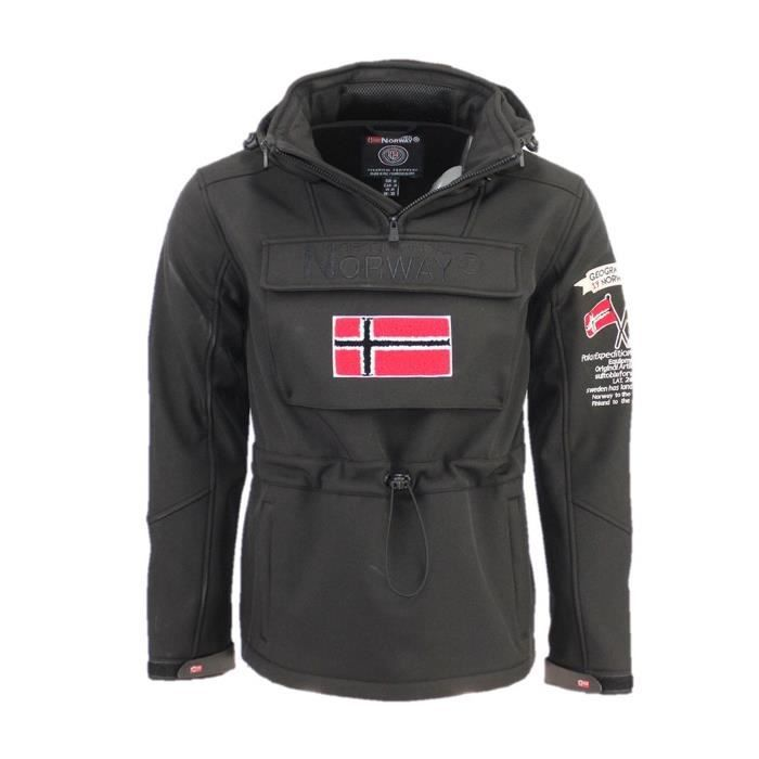 Softshell Homme Geographical Norway Target Noir