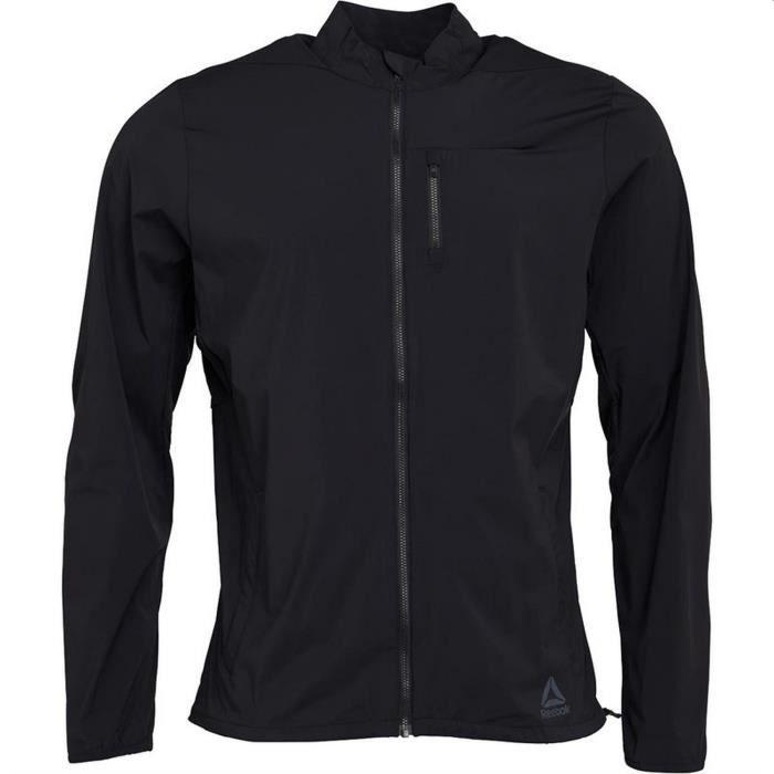 Vestes Reebok modèle Competition Jacket - Noir